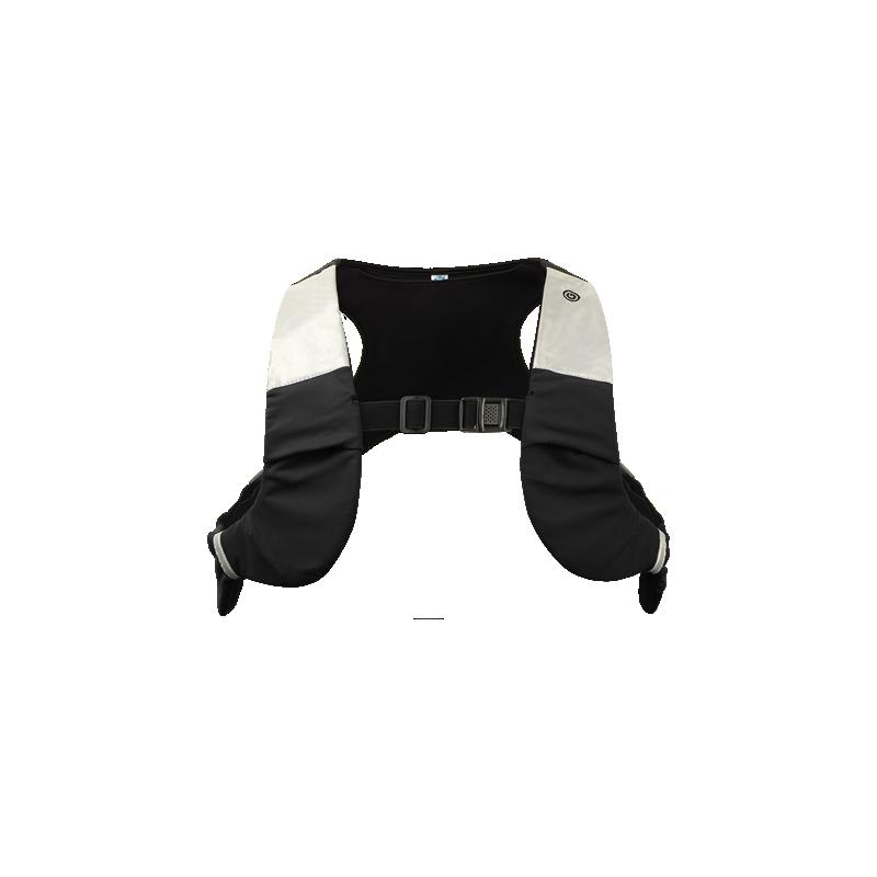 chaleco SEGURIDAD 12 x luces LED dispuestas. Material de neopreno ARL-Shock para una mejor protección a teléfonos.